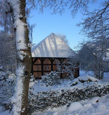 Fachwerkscheune Winter 2010